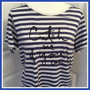 Kate Spade Catch Me If You Can T-Shirt Large